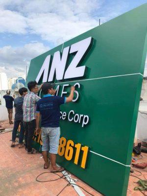 Làm biển bảng hiệu công ty thiết kế nội thất ANZ
