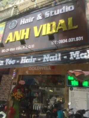 Làm bảng hiệu Anh Vidal-Hair & Salon