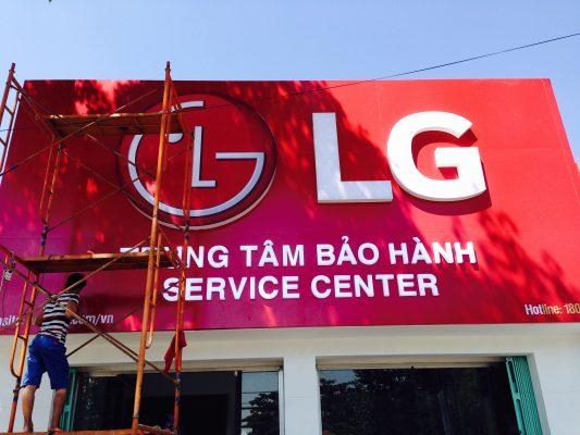 Làm biển bảng trung tâm bảo hành LG