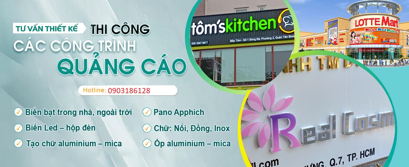 CÔNG TY TITACONS | Chuyên thi công Biển quảng cáo | Biển LED, Alu, Mica, Inox Đồng